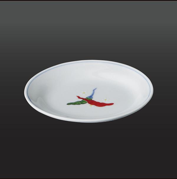 品 番:1011130001 商品名:胡椒 楕円小皿(1 客) サイズ:99×128×H20