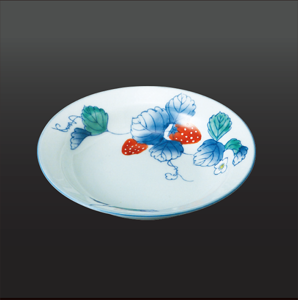品 番:1011130007 商品名:苺 五寸深皿(1 客) サイズ:150×H35