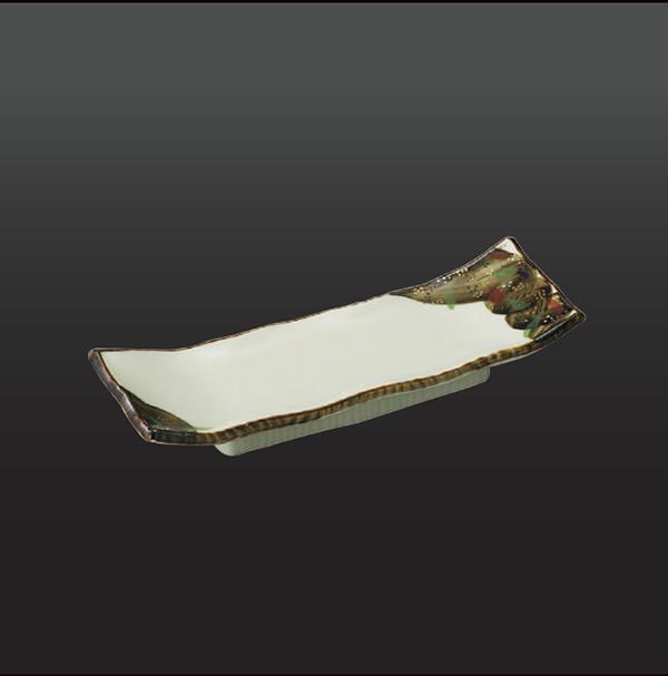 品 番:1011160001 商品名:雅 両上がり突出し皿 サイズ:237×80×H38