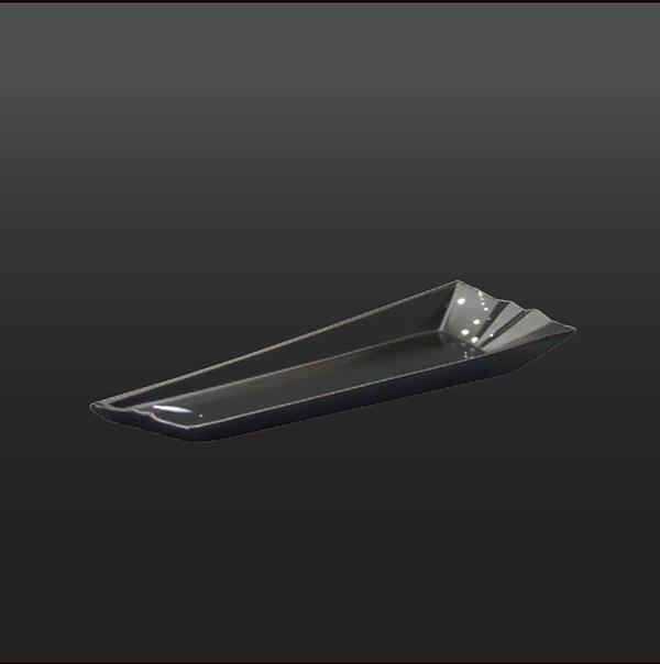 品 番:1011160003 商品名:なし地白ながし 変形長角多用皿 サイズ:330×120×H40