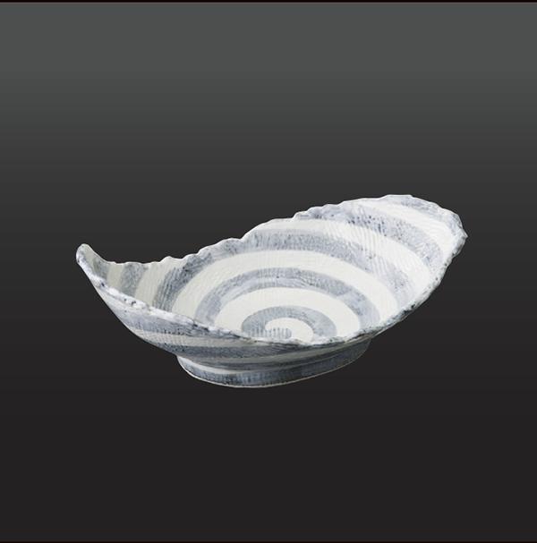 品 番:1011180001 商品名:渦 ねじり盛鉢 サイズ:304×194×H97