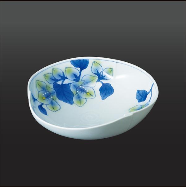 品 番:1011180002 商品名:酔芙蓉 三方盛鉢 サイズ:240×250×H80