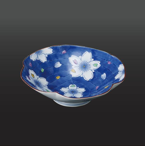 品 番:1011180004 商品名:花ふぶき 五方なぶり菓子鉢 サイズ:235×H70