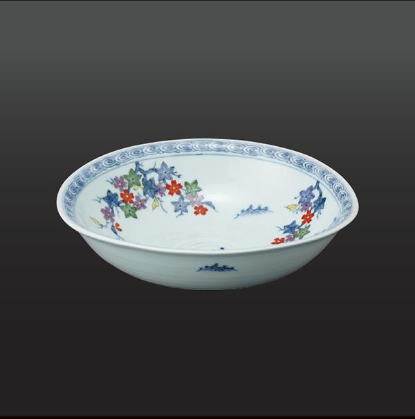 品 番:1011180008 商品名:春秋山水 楕円反菓子鉢 サイズ:237×245×H70