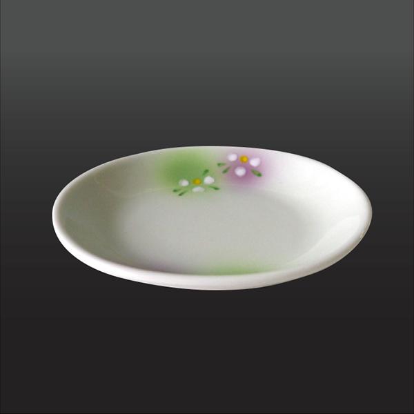 品 番:1011190004 商品名:二色吹白花 台皿 サイズ:120×110×H23