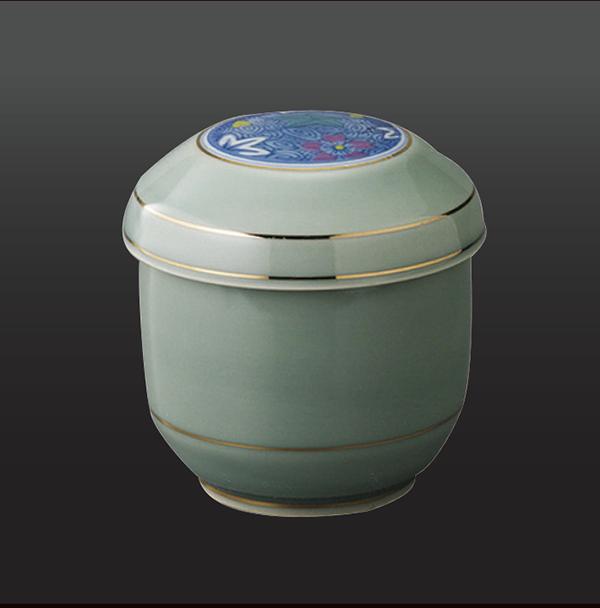 品 番:1011190007 商品名:灰柚 夏目型蒸し碗 サイズ:75×H75