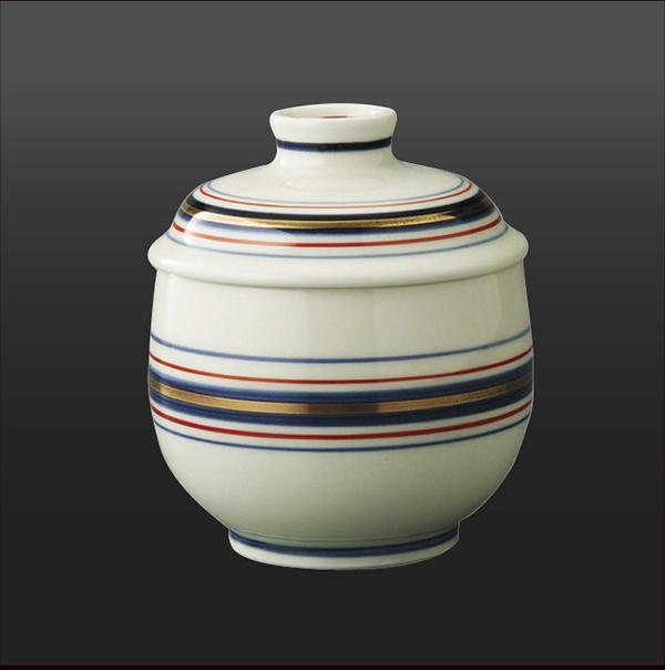 品 番:1011190008 商品名:三色ライン 蒸し碗 サイズ:78×H95