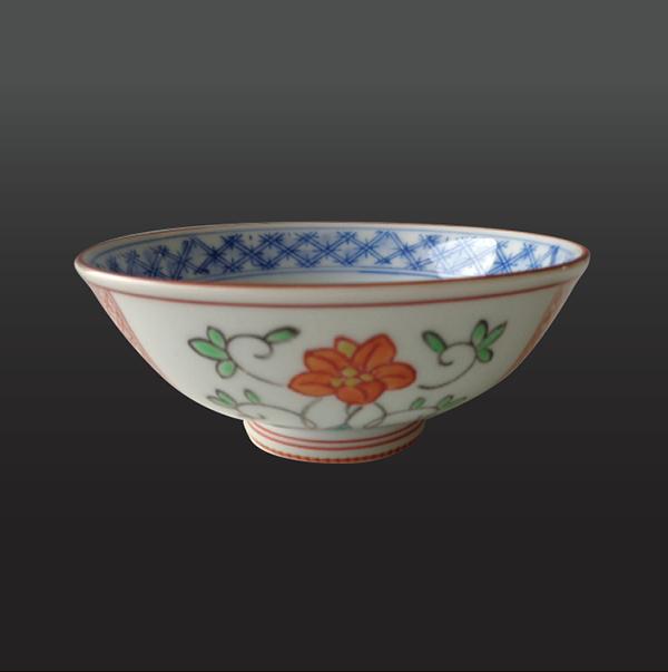 品 番:1011020004 商品名:赤池紋草花 飯碗(大) サイズ:118×H47