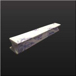 品 番:1541110004 商品名:H型8寸前菜皿 錦白彩青捻り サイズ:265×34×H34