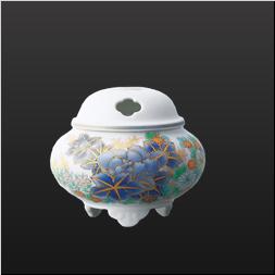 品 番:1051210006 商品名:染錦芙蓉淡彩菊・香炉 サイズ:H85