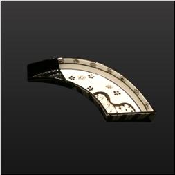 品 番:1541110010 商品名:のし型前菜皿(仕切無) 黒織部 サイズ:290×110×H35