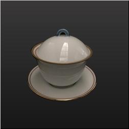 品 番:1061190001 商品名:渕金赤太白反り型蒸椀 サイズ:100×H97