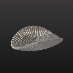 品 番:1041110001 商品名:氷光・双折皿(中) サイズ:180×128×H55