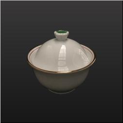 品 番:1061190002 商品名:渕金赤太白花ツマミ小反り型蒸椀 サイズ:90×H80