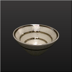 品 番:1061080002 商品名:黄柞灰金茶ラインすり鉢小中付 サイズ:97×H51