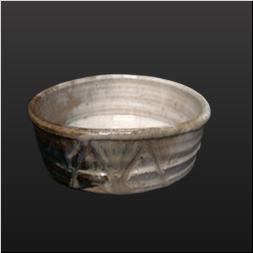 品 番:1031120001 商品名:朝鮮唐津割高台鉢 サイズ:45×17×H45