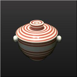 品 番:1541190001 商品名:耳付蒸碗 朱駒筋 サイズ:115×90×H90