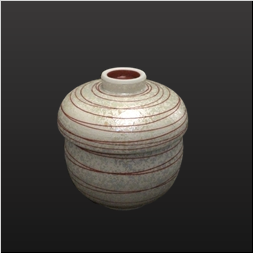 品 番:1061190006 商品名:レッドパール乱線瓢蒸碗 サイズ:85×H90