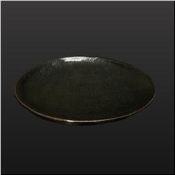 品 番:1021140001 商品名:黒唐津中皿 サイズ:235×H25