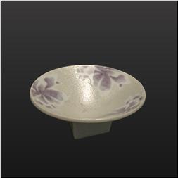 品 番:1061090002 商品名:紫芍薬虹彩角高台丸小中付 サイズ:110×H50