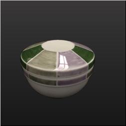 品 番:1061190009 商品名:染付三色濃平棗型蒸椀 サイズ:90×H65
