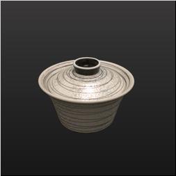 品 番:1061200002 商品名:ブラックパール乱線百合型小蓋物 サイズ:92×H72