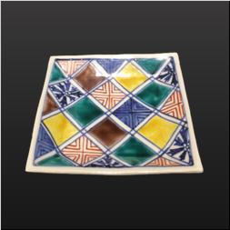 品 番:1571110004 商品名:5号正角皿 石畳文 サイズ:160×160×H24