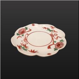 品 番:1571130002 商品名:3.5菊皿 赤絵 サイズ:102×H14