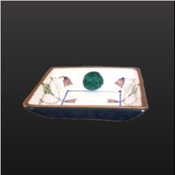 品 番:1571130004 商品名:3寸角皿 色絵ヨウラク サイズ:88×88×H21