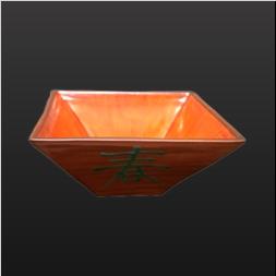 品 番:1571070007 商品名:角鉢 朱巻春夏秋冬 サイズ:115×105×H55