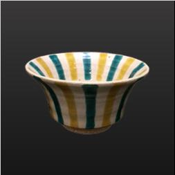 品 番:1571120002 商品名:4寸反り鉢 色絵十草 サイズ:126×H67