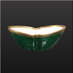 品 番:1571100001 商品名:分胴鉢 緑交ち見込金字福 サイズ:150×94×H56