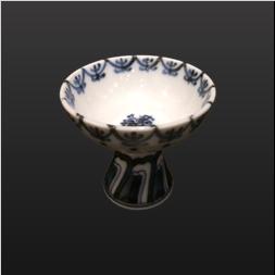 品 番:1571260001 商品名:馬上杯染付ヨウラク サイズ:77×H64