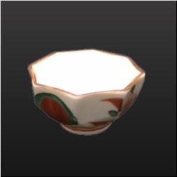 品 番:1571060006 商品名:八角盃 赤絵万暦 サイズ:64×64×H33
