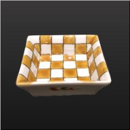 品 番:1571060007 商品名:角千代口 市松 黄 サイズ:70×70×H22