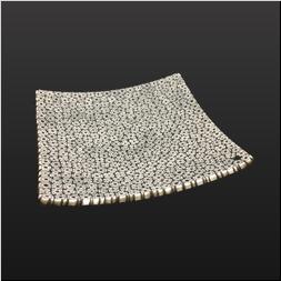 品 番:1071170003 商品名:モザイクスクエアプレート14cm(ブラック) サイズ:140×140×H25