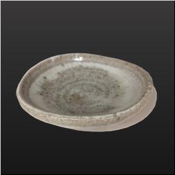 品 番:1021130008 商品名:斑唐津楕円豆皿 サイズ:88×83×H24